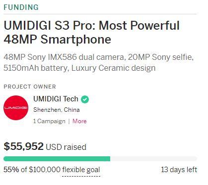 UMIDIGI S3 Proの価格1