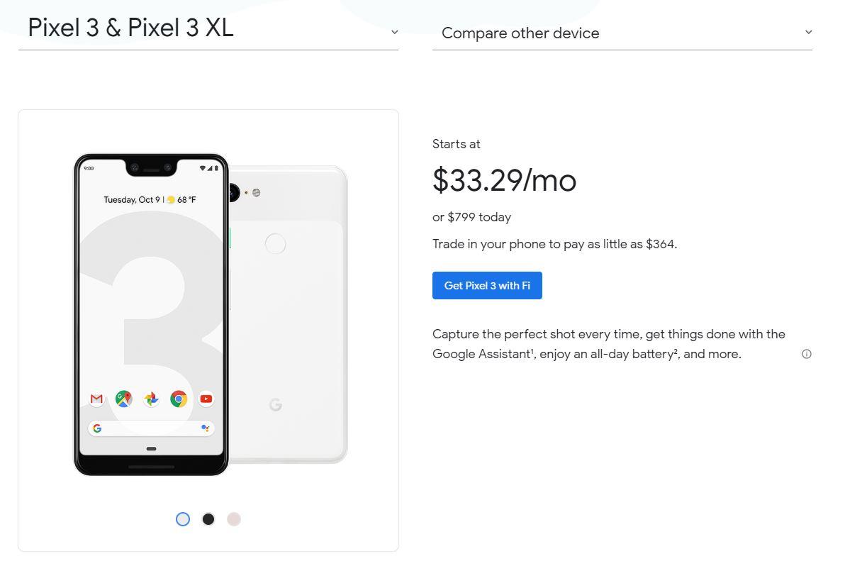 Google Fiで購入すると価格は?