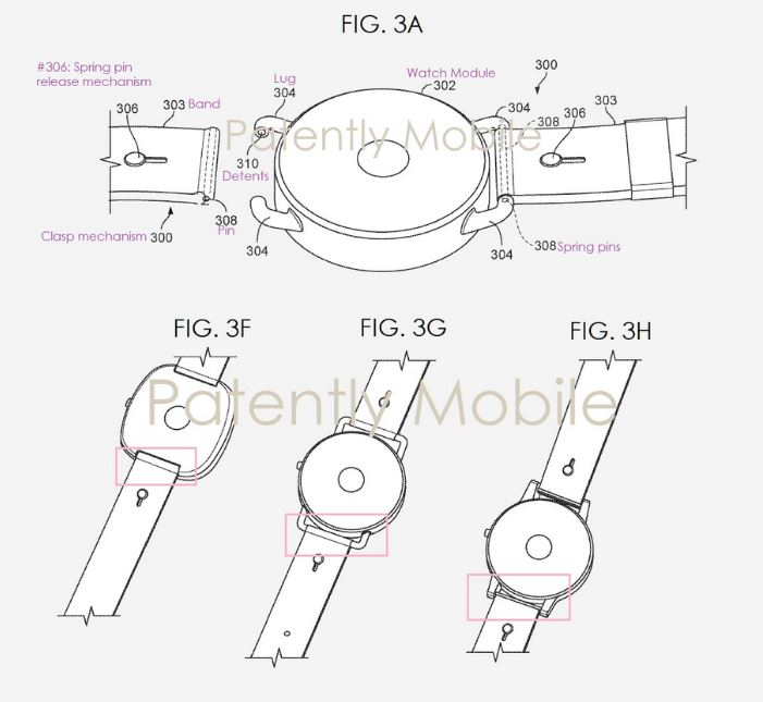 Google Pixel Watchの特許